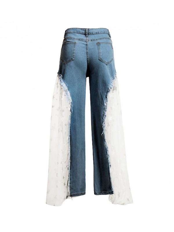 Jeans Pantaloncini Donna con Tulle JEA016