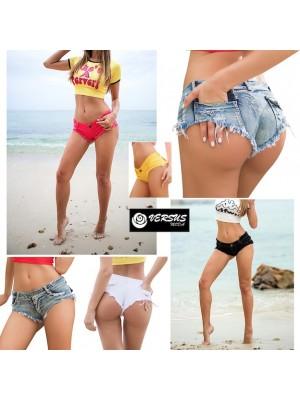 Mini Pantaloncini Jeans Donna Tipo Brasiliano Coachella JEA024