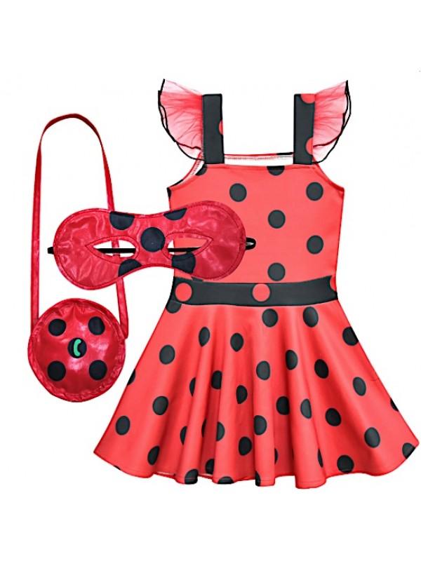 qualità eccellente vero affare risparmi fantastici Simil Ladybug Vestito Bambina Festa Tutù Tutulette LADV04