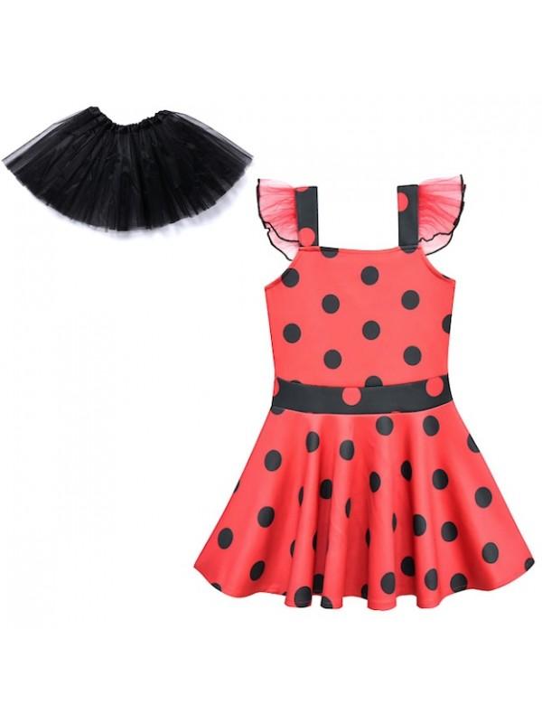 Simil Ladybug Vestito Bambina Festa Tutù Tutulette LADV04