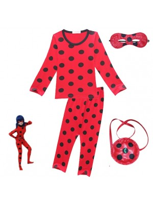 Simile Ladybug Maglia Pantalone Bambina per Casa LBSET01