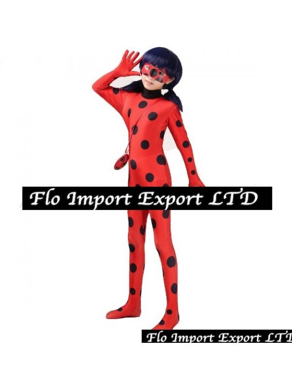 scegli originale vendita più calda più foto Simil Ladybug Vestito Tuta Carnevale Donna Bimba LBUG01