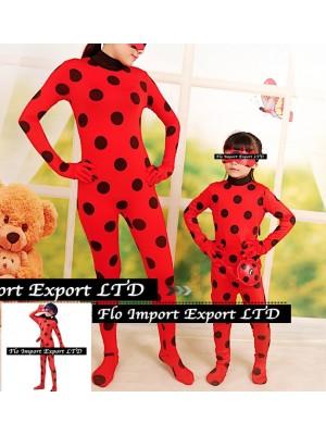 Simil Ladybug Vestito Tuta Carnevale Donna Bimba LBUG01