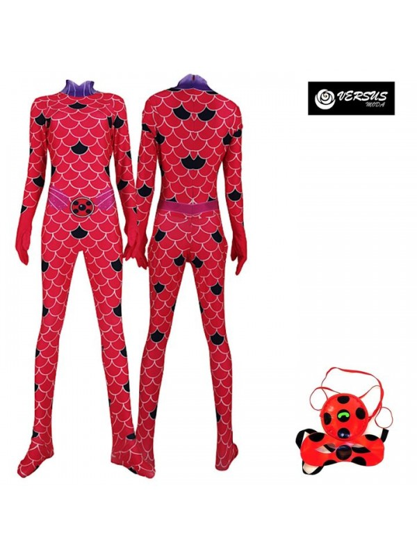 Simil Lady Bug Acqua Vestito Tuta Carnevale Water Lady Bug Costume 3D LBUG11