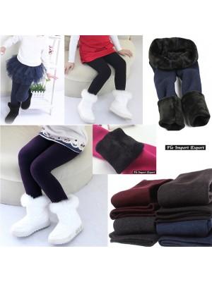 Leggings Felpato Bambina Caldo Pantalone Elastico LEGC101