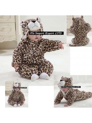 Leopardo Costume Carnevale Calda Tuta Pile Imbottita LEOP01