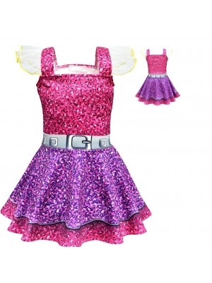 Simile Lol Purple Queen Vestito Carnevale Bambina LOLPUQ1