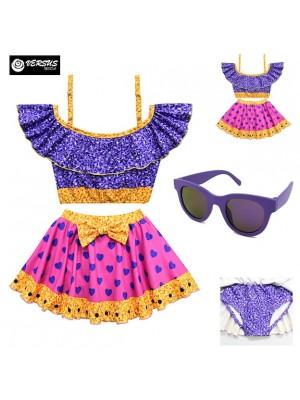 Lol Costume Mare Bikini Bambina Gonnellino LOLSWI05