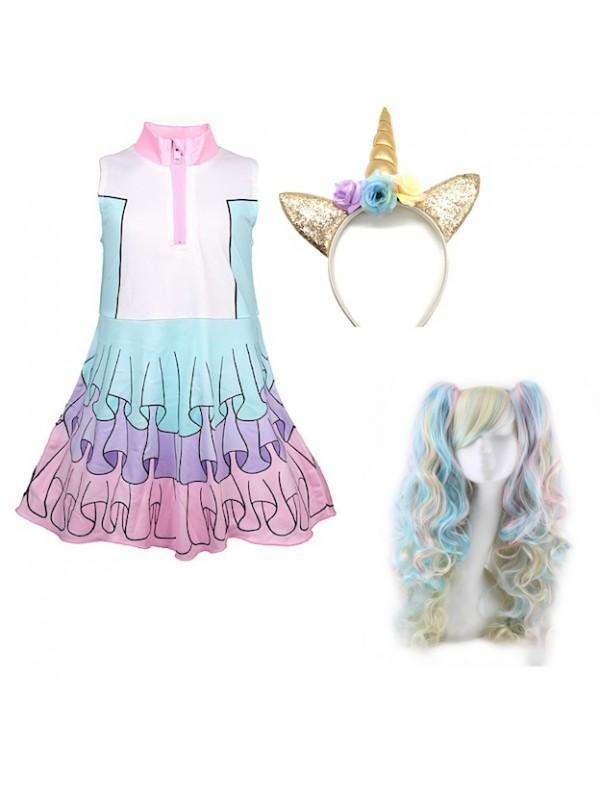 Simile Lol Unicorn Vestito Carnevale Bambina LOLUNIC5