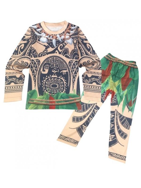 vestito maui oceania  Tipo Maui Oceania Vaiana Costume Carnevale Cosplay MAUIC01