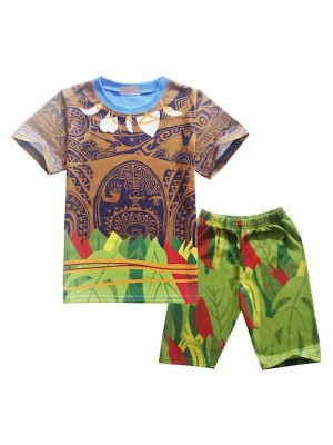 Tipo Maui Oceania Vaiana Set Maglia Pantaloncini MAUISET01