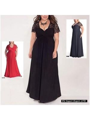 Vestito Donna con Pizzo Taglie Grandi OS120018