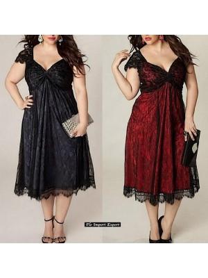 Vestito Pizzo Donna Taglie Grandi OS120024