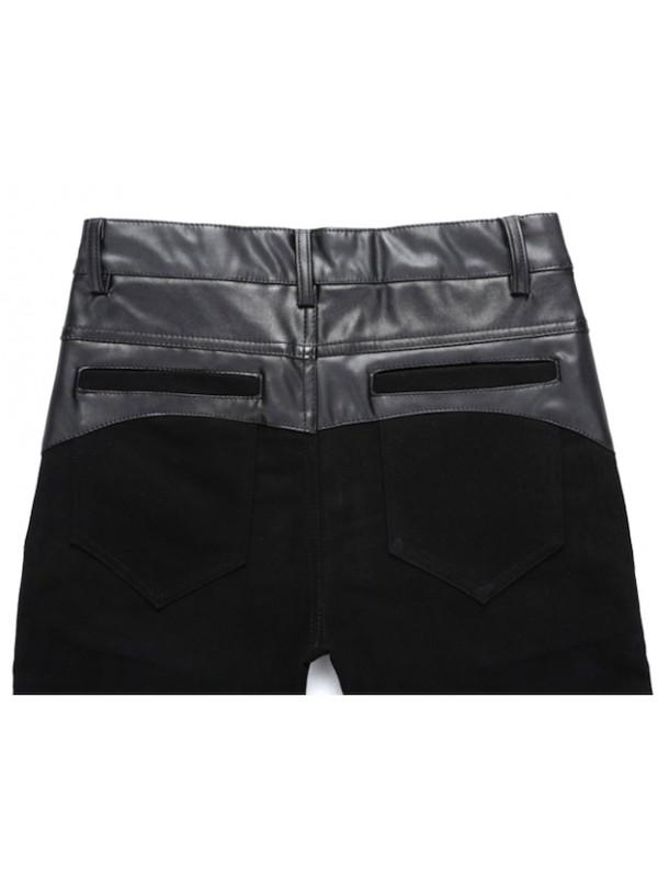Pantaloni Finta Pelle Uomo Slim Fit PAMAN01
