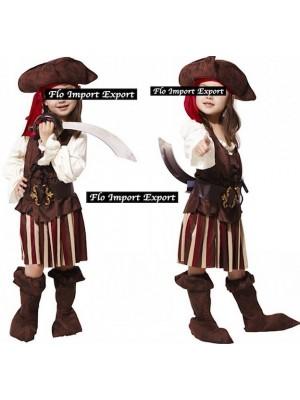Simile Jack Sparrow Vestito Pirati Caraibi Carnevale PIRAT01