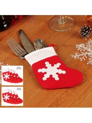 Portaposate Calza Natale 10 o 20 pezzi Tavola PORPO07