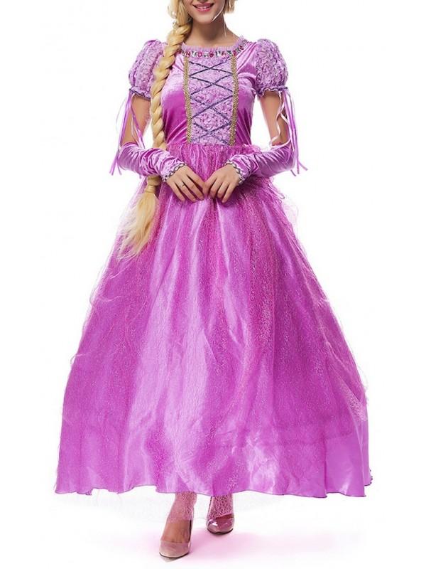 ineguagliabile bello e affascinante Scoprire Rapunzel Vestito Carnevale Donna RPZ001
