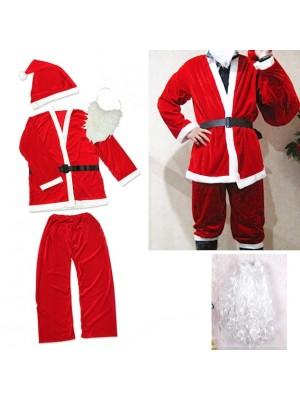 Vestito Costume Babbo Natale e Barba SANTC06