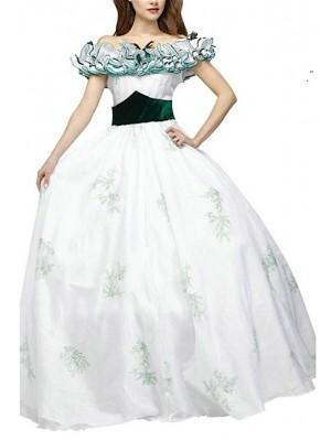 Vestito tipo Rossella O'Hara Epoca Carnevale Teatro SCARL01