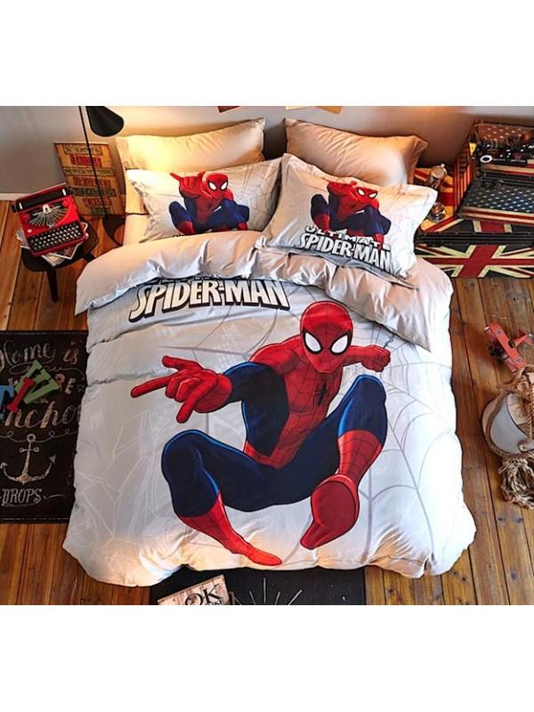 Copripiumino Spiderman.Spiderman Set Letto Copri Piumone Copripiumino Lenzuolo Serdu01