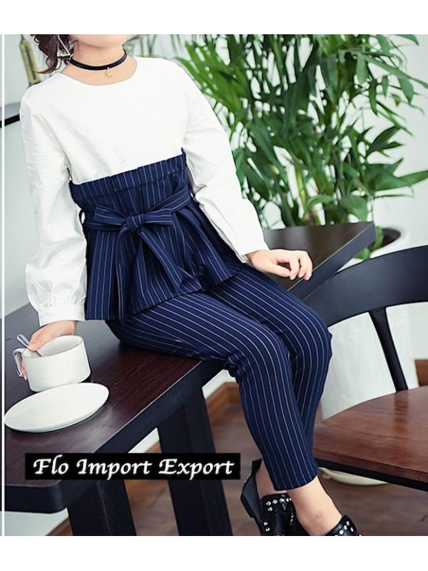 Completo Pantaloni Maglia Camicia Bambina SETCH01