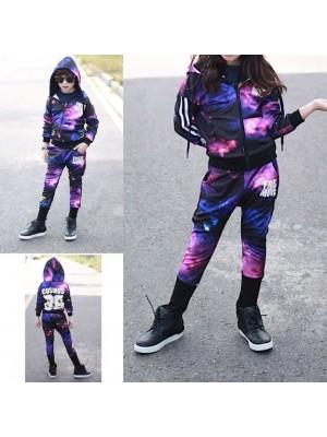 Completo Tuta Sportiva Pantaloni Felpa Bambina SETCH06