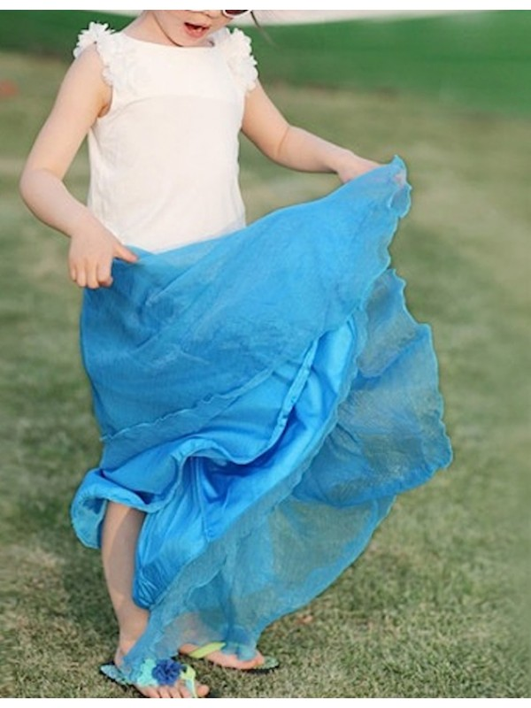 Gonna Lunga Vestito Chiffon Bambina SKIR012