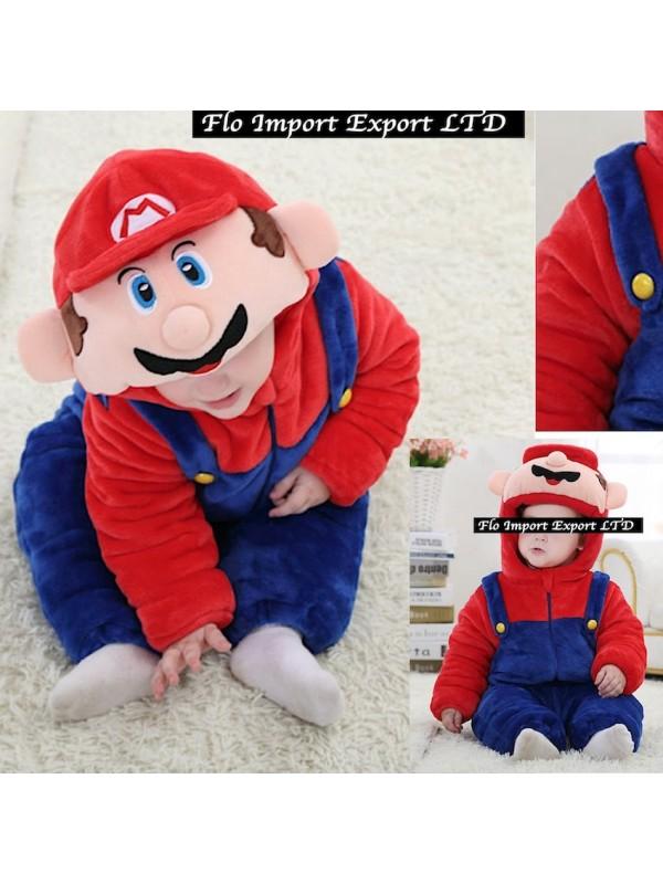 Calda Carnevale Mario Tuta Super Pile Smar01 Costume Imbottita wStFT