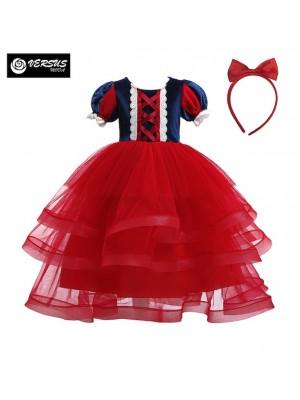 Biancaneve Vestito Carnevale Rosso SNOW006 R