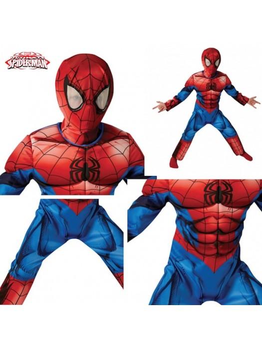 Amazing Spiderman Deluxe Costume Carnevale Originale Marvel SPIDRU05