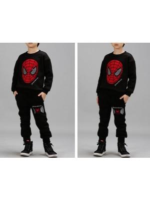 Spiderman Completo Tuta Felpa Pantalone Sportivo Bambino SPISET01