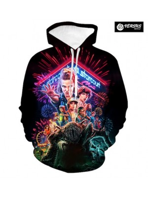 Undici Undi Felpa Cappuccio Stranger Hooded Things STFEL01