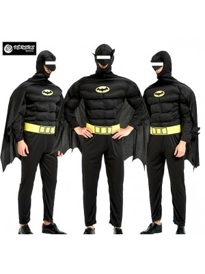 Batman Costume Carnevale Uomo Super Eroe Avenger SUHEAV6