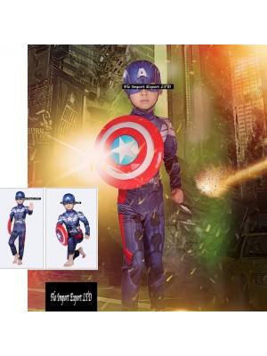 Capitan America Vestito Costume Carnevale Bambino SUP005