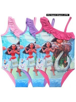 Vaiana Costume Mare Oceania Intero Bambina 3-10 Anni SWIVA01