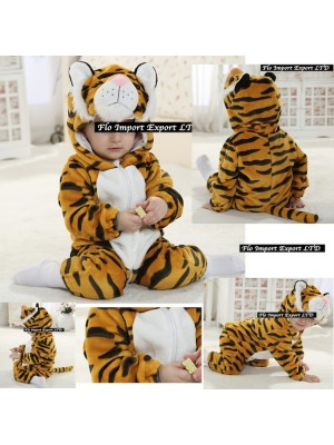 Tigre Costume Carnevale Calda Tuta Pile TIGER02