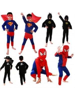 Spiderman Batman Zorro Superman Costumi Carnevale TN083