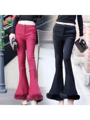 Pantaloni Donna Zampa Invernali TRA005