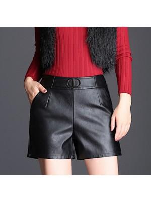 Pantaloncini Donna Simil Pelle Ecologica TRA012