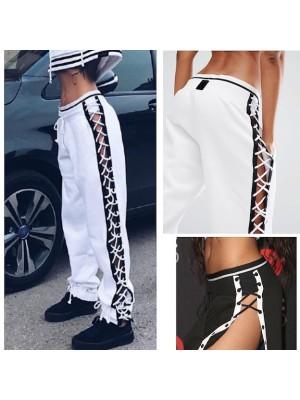 Tuta Pantaloni Aperti Lacci Laterali Donna TRA015