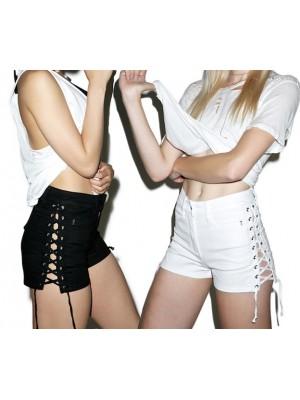Mini Pantaloncini con Lacci Laterali Donna TRA022
