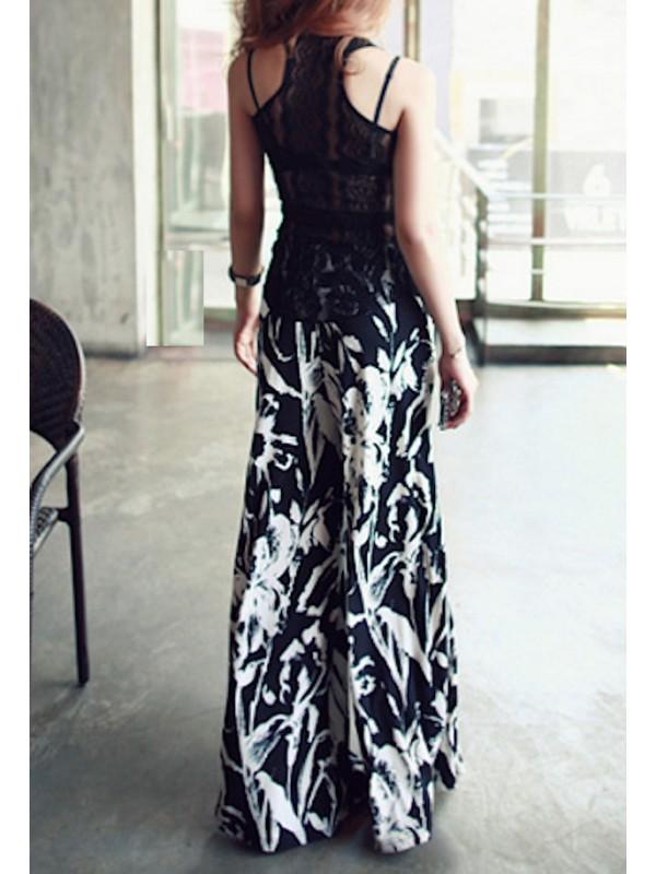 Pantaloni Donna Larghi Floreali TRA025