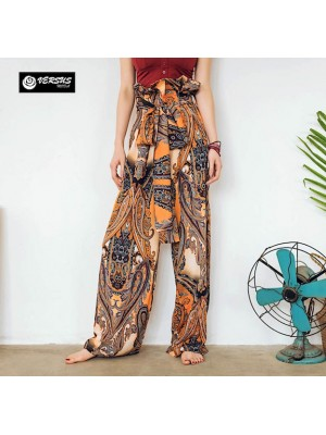 Pantaloni Donna Larghi Leggeri Vita Alta TRA027