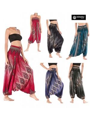Pantaloni Etnici Donna Larghi Boho Chic Woman Large Ethnic Trousers TRA044