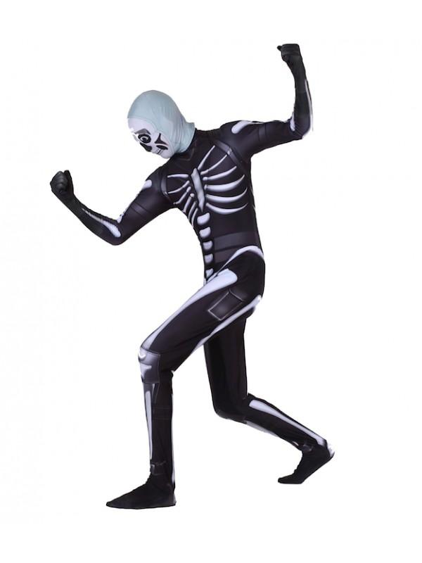 Simile Scheletro Costume Carnevale Uomo Bambino UFNITE02
