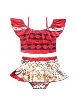 Vaiana Costume Mare Oceania Bikini 2 Pezzi Bambina VACOS02