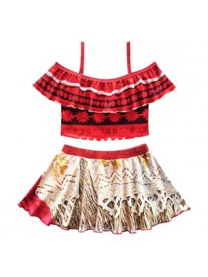 Vaiana Costume Mare Oceania Bikini 2 Pezzi Bambina VACOS03