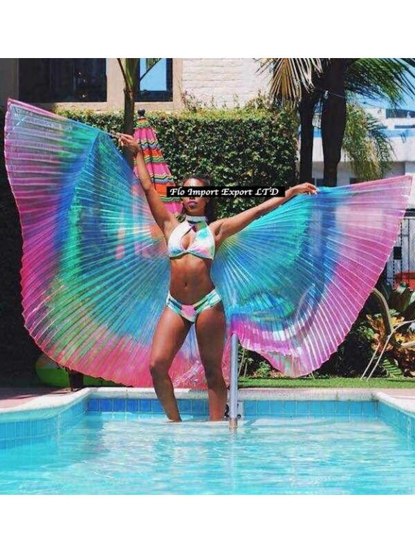 Ali Mantello Spiaggia Spettacolo Esibizione Donna WINGS01