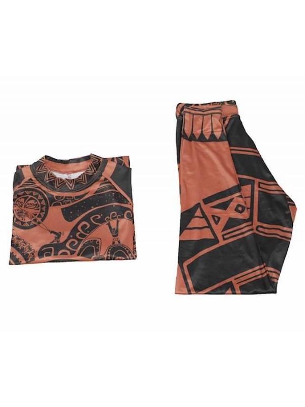 maui oceania costume carnevale  Tipo Maui Oceania Vaiana Costume Carnevale Cosplay Uomo MAUIC12