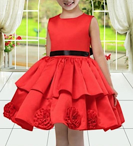 Vestito Cerimonia Elegante Bambina Feste Natale CDR043 fc11809b6e7